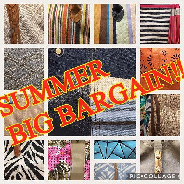 .*LAKETOWN THE BARGAIN*...始まりました︎.︎レイクタウン ザ バーゲン︎.あんまり大きな声では言えませんが.あんなのやこんなのが....なんと最大50%OFF︎︎このチャンス見逃すわけにはいきません!.週末のお買物はレイクタウンへGO︎︎...#andefffy #sacsbar #fashion #bag #ladies #handbag #totebag #wallet #iphonecase ..#saitama #koshigaya #laketown #aeonlaketown #summer #bargain #sale #specialsale #laketownthebargain