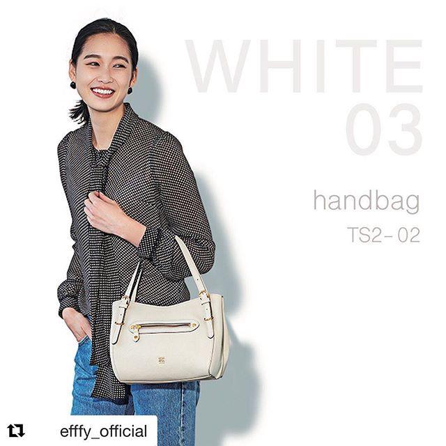 #Repost @efffy_official with @get_repost・・・New  ItemWhite HandbagTS2-02 WH ¥21,000+TAXきちんときれいがお気に入りマストな白。カジュアルもキレイめもおまかせの白のハンドバッグ。きちんとした清楚な雰囲気で好感度アップ️大きすぎないサイズ感もうれしい!この夏のヘビロテバッグになりそうです。 .#efffy#エフィー#Wallet#ウォレット#革小物#財布#バッグ#ItalianMaterial#Pochette#ポシェット#ロングウォレット#二つ折り財布#ボックス型コイン財布#カラフル小物#春色財布#牛革財布#春夏新作革小物#2waybag#ホワイトリュックサック#牛革リュックサック#春夏コーデ#日本製シュリンクエンボス牛革#谷川りさこ