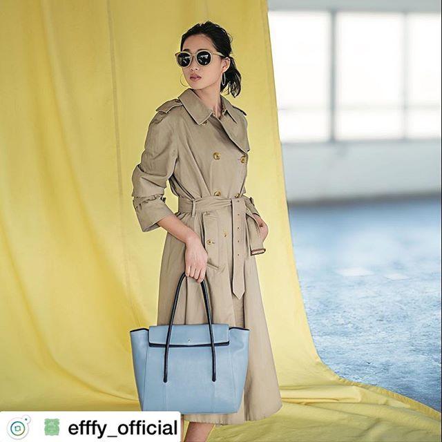 New  itemNS3-11 ¥26,000+TAX空色トートバッグ。まるで春の空のように美しい存在感のトートバッグ。なめらかでやさしい手ざわりの牛革スムース素材で仕上げました。必要なものがたくさん入る頼もしい収納力なのにルックスはスマート。ネイビーの配色を効かせてさらに上品に。春コーデの着映え力がアップしそうです。#efffy#エフィー#Wallet#ウォレット#革小物#財布#バッグ#ItalianMaterial#Pochette#ポシェット#ロングウォレット#二つ折り財布#ボックス型コイン財布#カラフル小物#春色財布#牛革財布#春夏新作革小物#イタリアシュリンク素材#2waybag#大人春バッグ#牛革スムース#谷川りさこ#テラスハウス