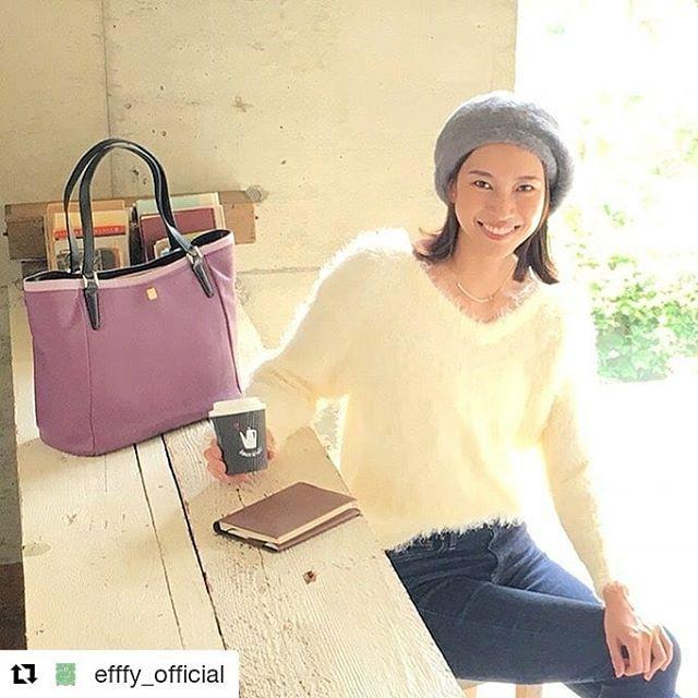 #Repost @efffy_official (@get_repost)・・・革バッグ 革財布 efffy AWシーズン新作のご紹介です。イタリア製シュリンク牛革と日本製牛革をカラーコンビで使用したトートバッグ。シンプルなフォルムに3色で構成したカラーリングが新鮮な印象イメージなトートバックはA4もしっかり収納ができてとても便利!秋のオフィスコーデやトラベルなどに幅広く活躍します!no_TS2-01 color_PU ¥26,000(+tax)www.efffy.comefffy coredo muromachiefffy nagoyaefffy's closet chofu efffy's closet machidaefffy's closet yokohama efffy's closet tokorozawaefffy's closet saitama shintoshin efffy's closet takasaki efffy's closet nishinomiya#efffy#efffys_closet_official#madeinjapan#totebag#leatherbag#leather#sacsbar#gransacs#sacsbarjean#日本製#革バッグ#秋コーデ#パープル#ラベンダー#アイボリー#デニム#モヘア#トートバッグ#ベレー帽#オフィスコーデ#ママコーデ#エレガント#コーヒー#エフィー#サックスバー#グランサックス#サックスバージーン#かわいい#お洒落さんと繋がりたい