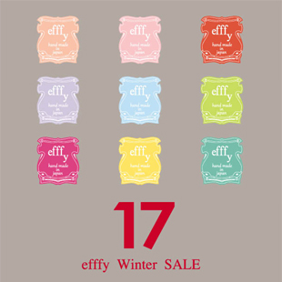 efffy Winter SALEのお知らせ。