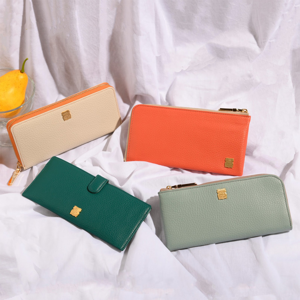 上質なイタリア・マストロット社製シュリンクエンボスレザーのお財布シリーズ